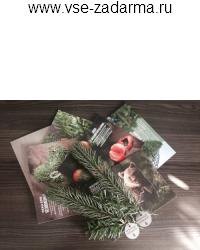 бесплатный подарок - ароматизированная веточка хвои - 31 12 2014