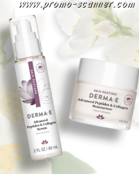 Échantillons gratuits de crème et de sérum DERMA E