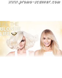 Free blond hair samplers