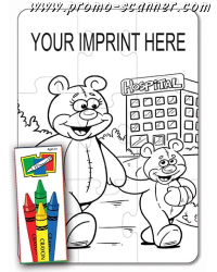 Free samples of pencils and coloring books