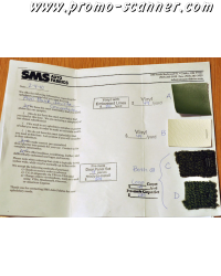 عينات مجانية من الأقمشة SMS السيارات