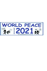 Наклейка на бамбер World Peace 2021